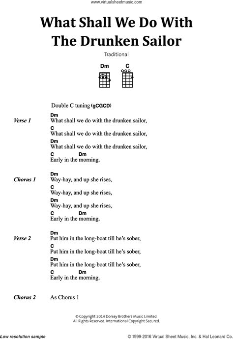 What Shall We Do With The Drunken Sailor sheet music for