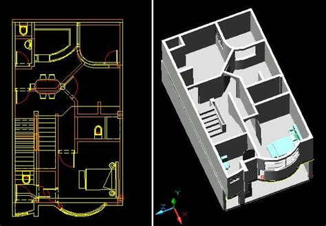 3d house in 3DS | Download CAD free (1