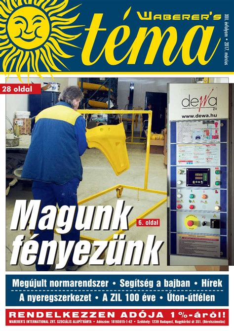Téma magazin 2017/03 by Waberer's - Issuu