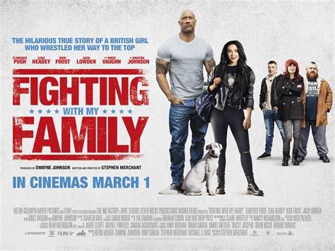New Quad Poster For The Upcoming 'Fighting With My Family'