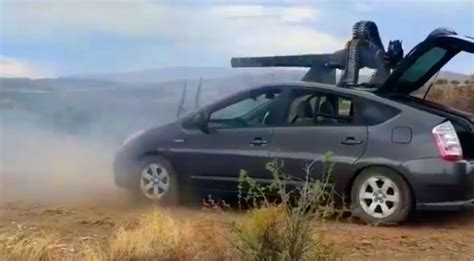 After Reinforcing This Prius, These Guys Shoot An M61