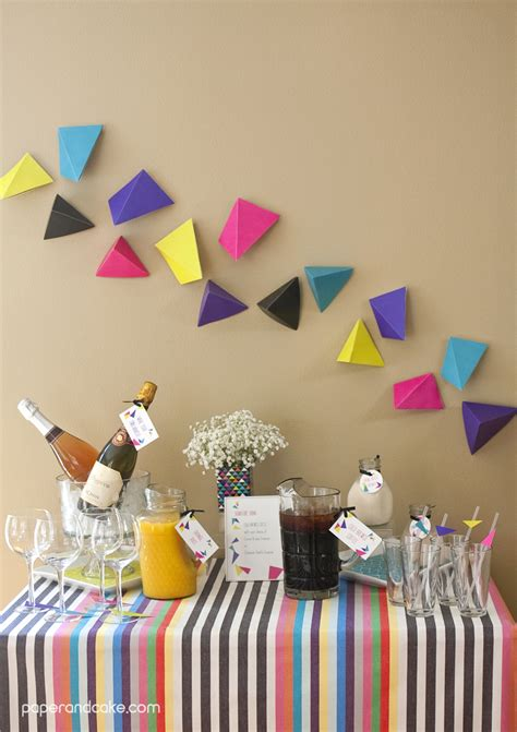 Geometric Triangular Printable Party - Paper and Cake