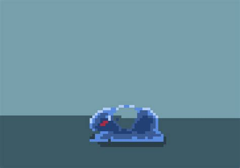 Animated Pixel Slime by rvros