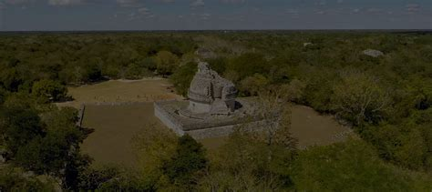 Chichen Itza Archaeological Zone / Aerial photography Mexico