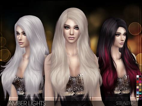 Stealthic - Amber Lights (Female Hair) - Sims 4 Mod