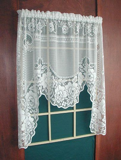"""White Lace Swag Curtains 