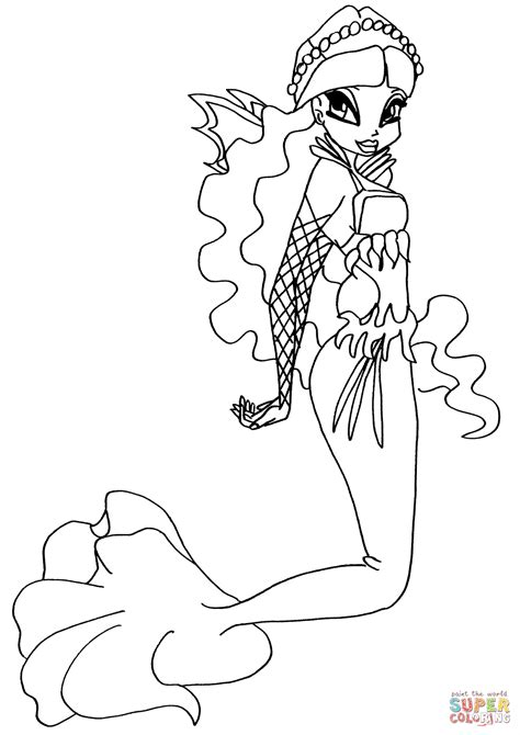 Mermaid Layla coloring page   Free Printable Coloring Pages