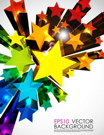 3D Star colorful background - Ai, Svg, Eps Vector Free